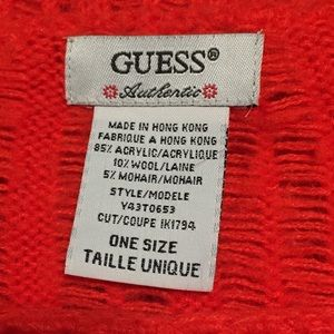 Guess Sweaters - 💖4/$25 Vintage Guess Fringed Wool Blend Pancho OS